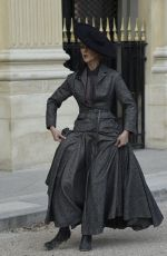 CELINE DION on the Set of a Photoshoot at Palais Royal in Paris 07/06/2017