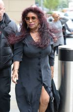 CHAKA KHAN Arrives at Mediacityuk Studios in Manchester 07/22/2017