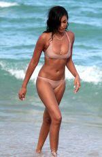 CHANEL IMAN in Bikini at a Beach in Miami 06/30/2017