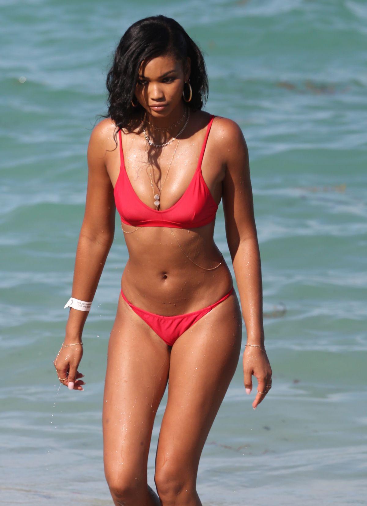 CHANEL IMAN in Bikini on the Beach in Miami 07/01/2017