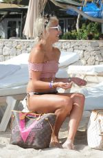 CHANEL WEST COAST with Sisters LANA and STEPHY SCOLARO at a Beach in Ibiza 07/26/2017