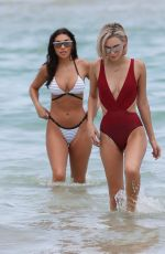 CHANTEL JEFFRIES and SARAH SNYDER on the Beach in Miami 07/22/2017