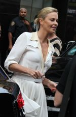 CHARLIZE THERON Arrives at Good Morning America in New York 07/20/2017