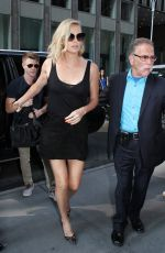 CHARLIZE THERON Arrives at Howard Stern Show in New York 07/19/2017