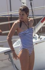 CHARLOTTE CASIRAGHI in Swimsuit at Yacht Club in Monaco 07/03/2017