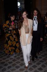 CHARLOTTE LE BON at Vogue Party at Paris Fashion Week 07/04/2017