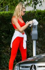 CHARLOTTE MCKINNEY in Tights Out in Beverly Hills 07/18/2017