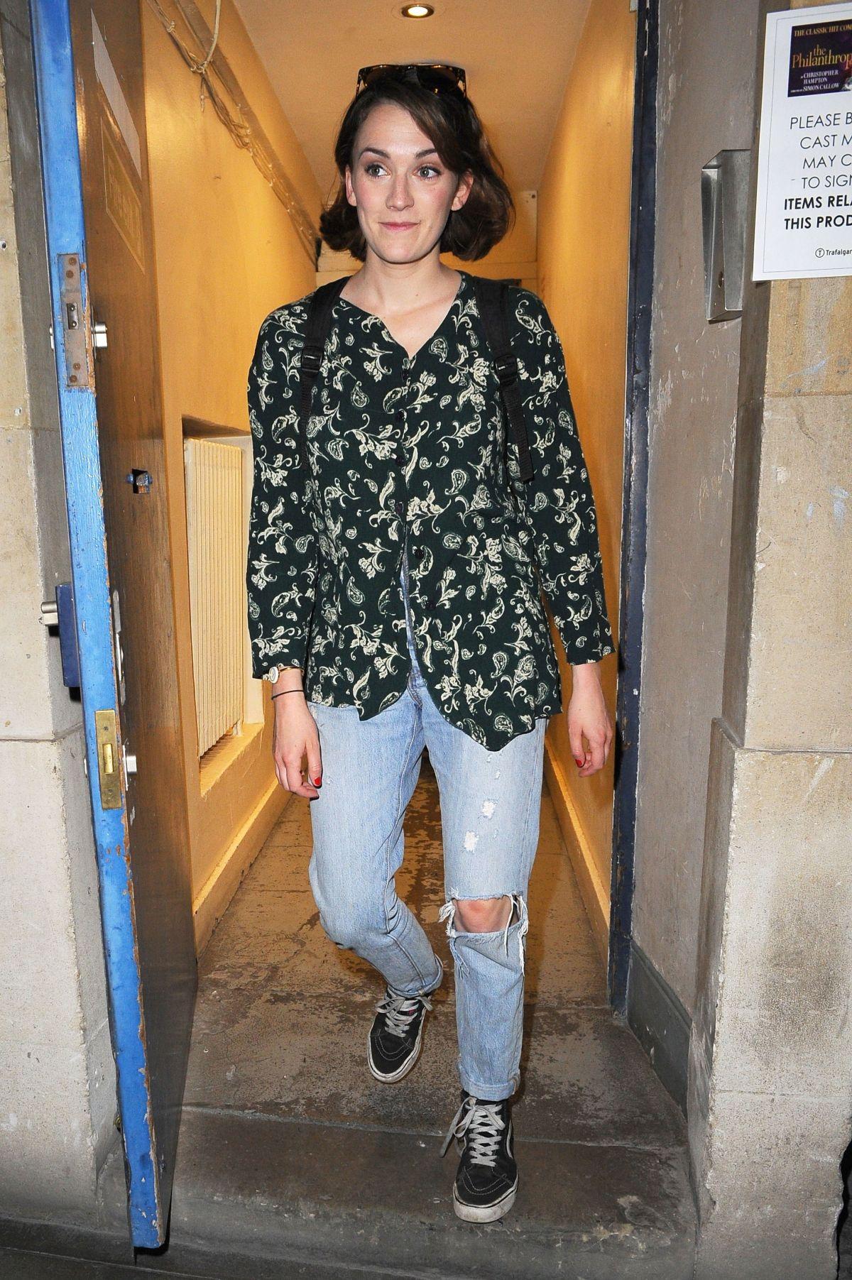 CHARLOTTE RICHIE Leaves Trafalgar Studios in London 07/18/2017