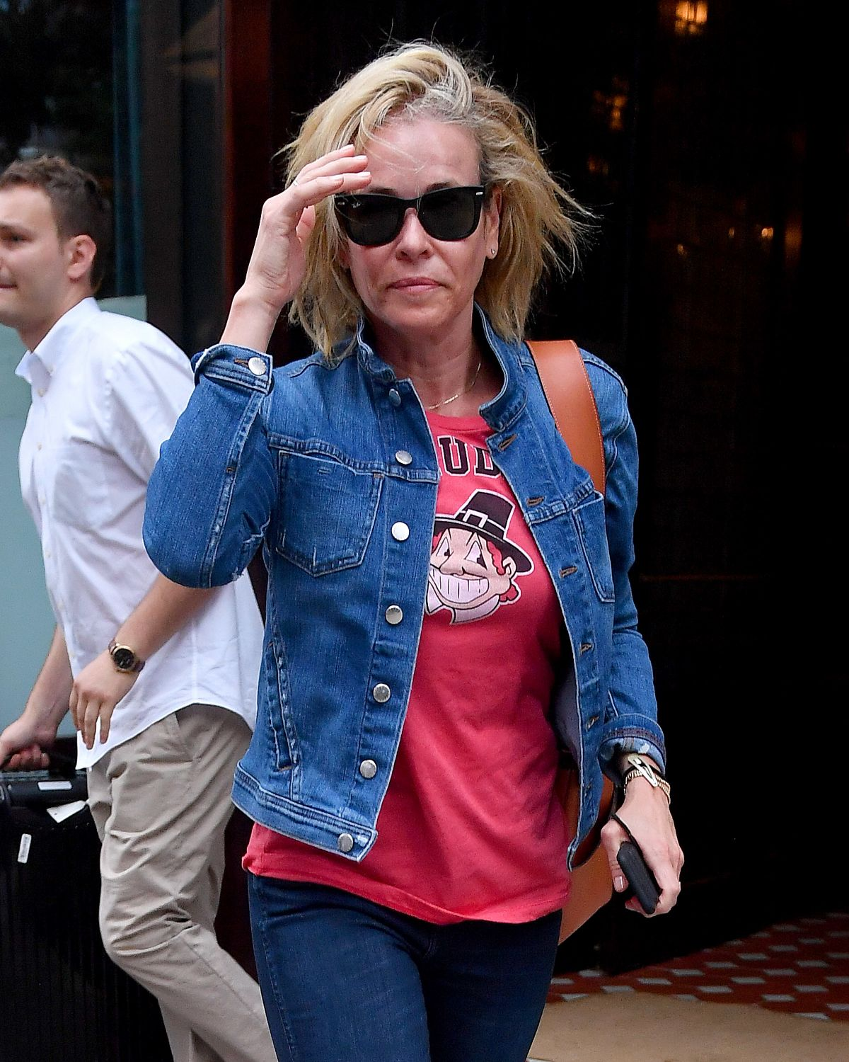 CHELSEA HANDLER Leaves Her Hotel in New York 07/07/2017