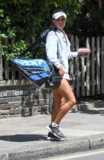 CHELSEA SAMWAYS at a Tennis Court in London 07/08/2017