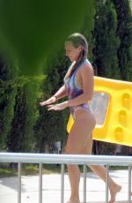 CHLOE MADELEY in Swimsuit at a Pool in Ibiza 07/20/2017