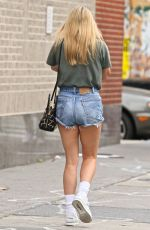 CHLOE SEVIGNY in Denim Shorts Out in New York 07/05/2017