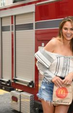 CHRISSY TEIGEN at McDelivery Launch in New York 07/25/2017