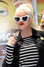 CHRISTINA AGUILERA at The Emoji Movie Premiere in Westwood 07/23/2017