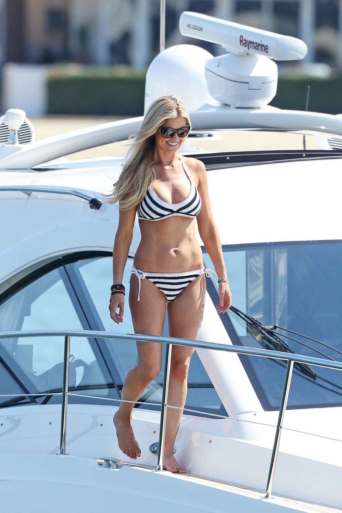 CHRISTINA EL MOUSSA in Bikini at a Boat in Newport 07/05/2017