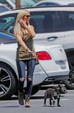 CHRISTINA EL MOUSSA Out with Her Dog in Orange County 07/07/2017