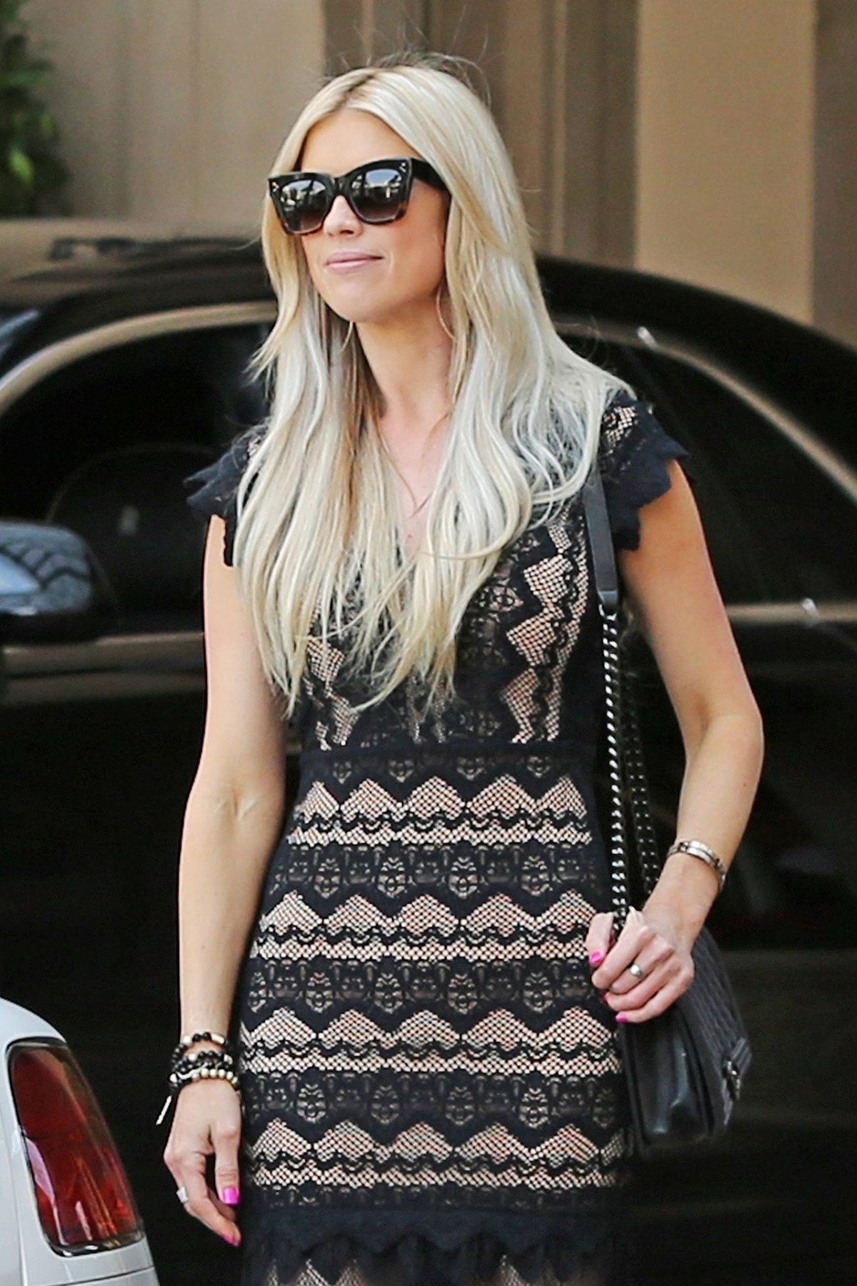 CHRISTINA EL MOUSSE Leaves Montage Hotel in Beverly Hills 07/09/2017