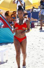 CHRISTINA MILIAN in Bikini on the Beach in Miami 07/15/2017