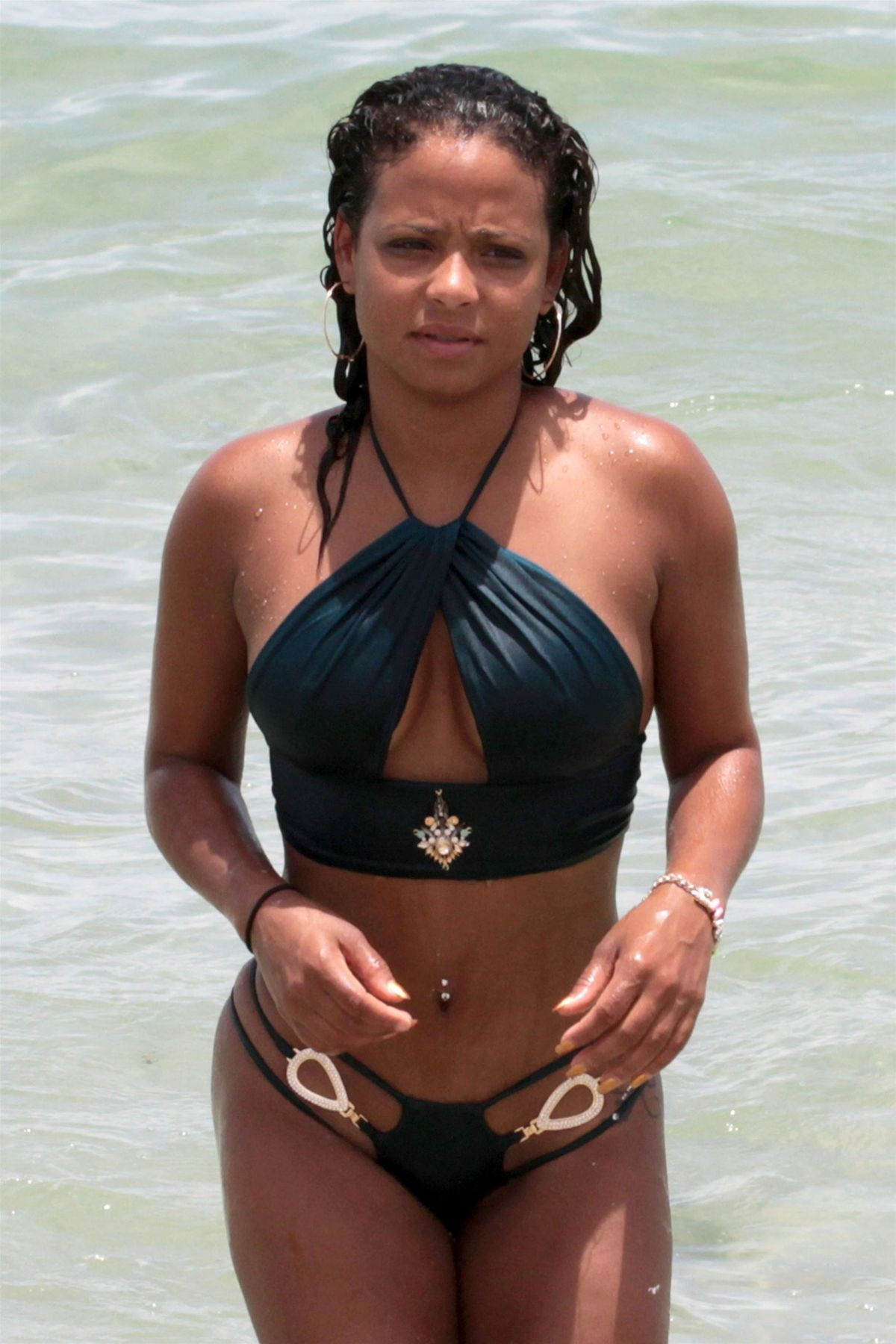 CHRISTINA MILIAN in Bikini on the Beach in Miami 07/20/2017