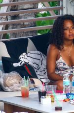 CHRISTINA MILIAN in Swimsuit at Her Hotel in Miami 07/16/2017
