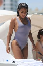 CHRISTINA MILIAN in Swimsuit on the Beach in Miami 07/02/2017