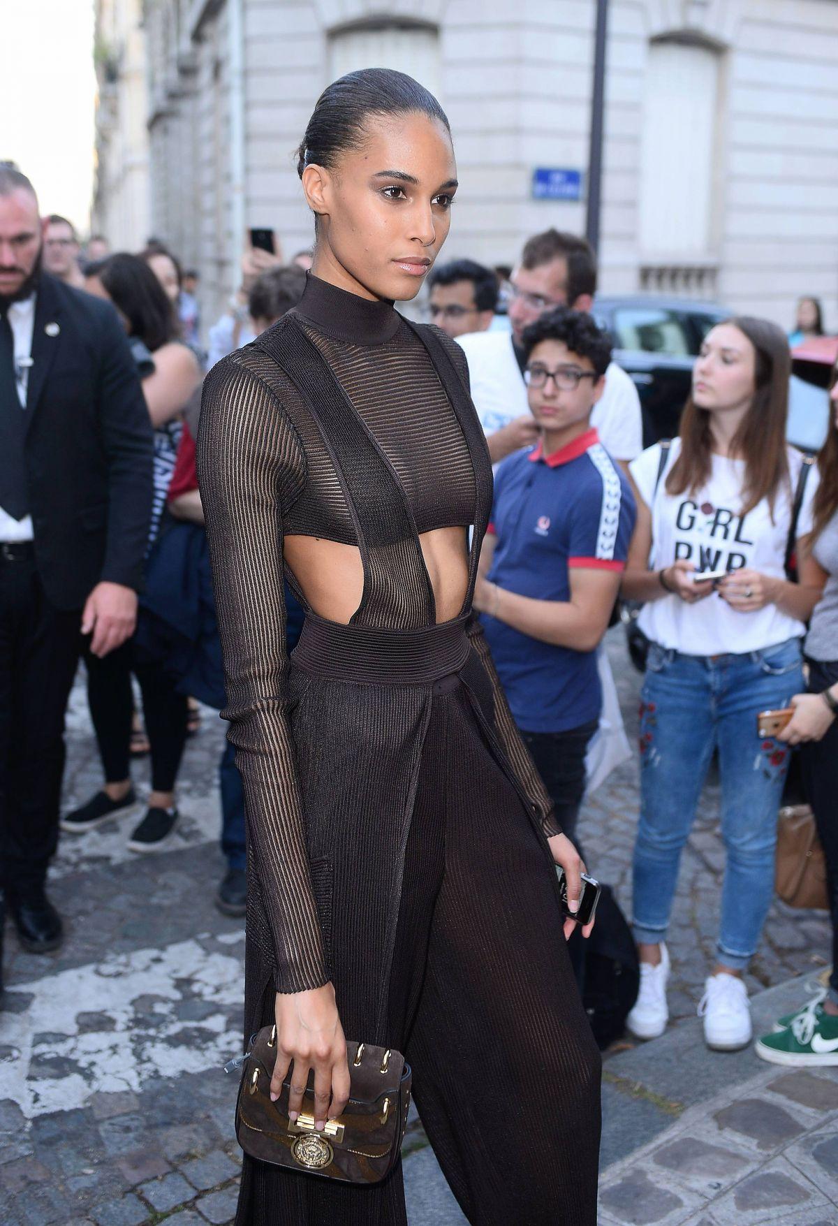 CINDY BRUNA at Vogue Party at Paris Fashion Week 07/04/2017