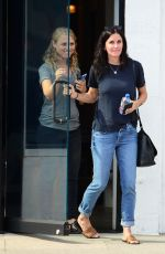 COURTENEY COX Out and About in Beverly Hills 07/18/2017