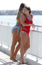 COURTNEY GREEN and CHLOE MEADOWS on the Beach in Los Angeles 07/03/2017