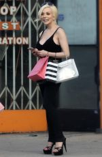 COURTNEY STODDEN Out Shopping in Los Angeles 07/01/2017