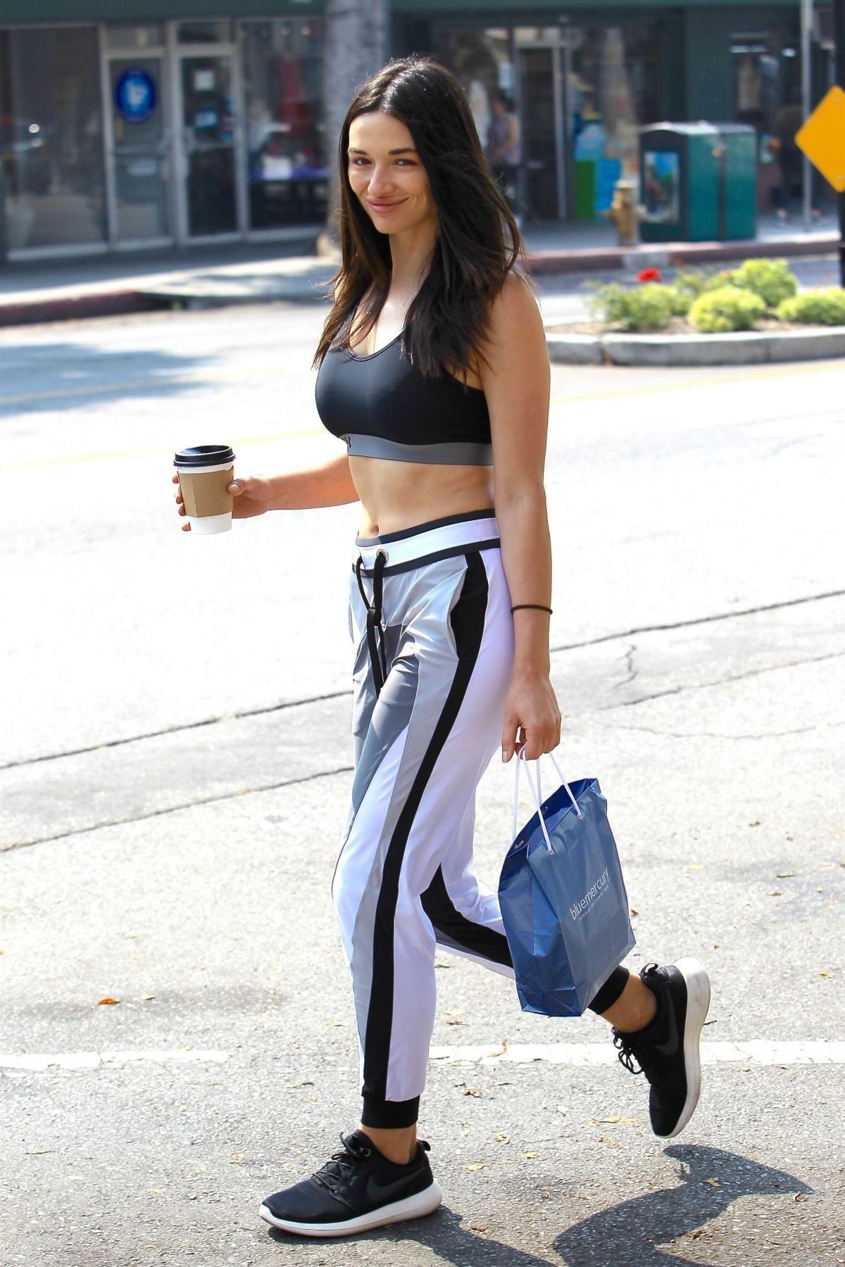 CRYSTAL REED Out for Coffee After a Work Out in Redondo ...