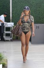 CYNTHIA BAILEY at a Pool in Los Angeles 07/11/2017