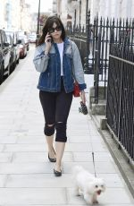 DAISY LOWE Out with Her Dog in London 07/12/2017