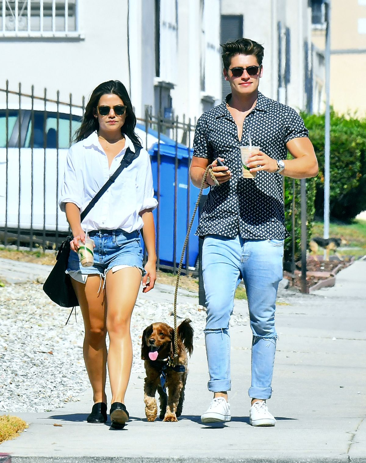 DANIELLE CAMPBELL and Gregg Sulkin Out in Los Angeles 07/25/2017