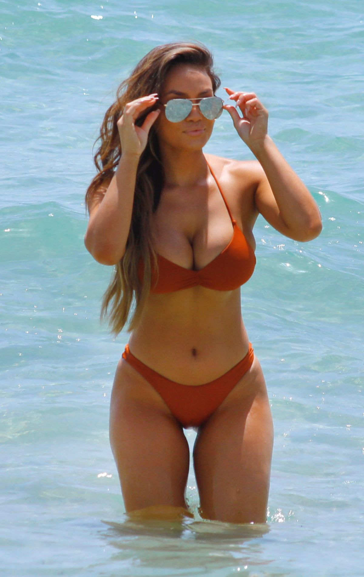 DAPHNE JOY in Bikini at a Beach in Florida 07/24/2017