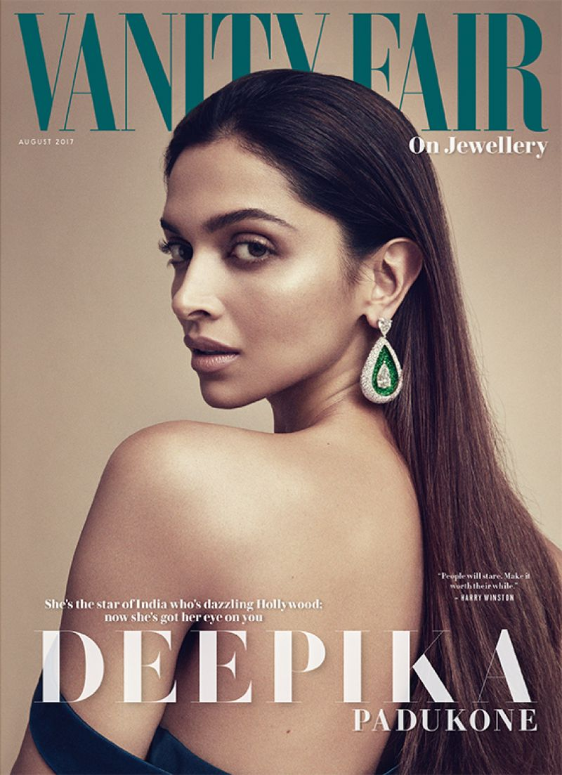 DEEPIKA PADUKONE for Vanity Fair on Jewellery, August 2017