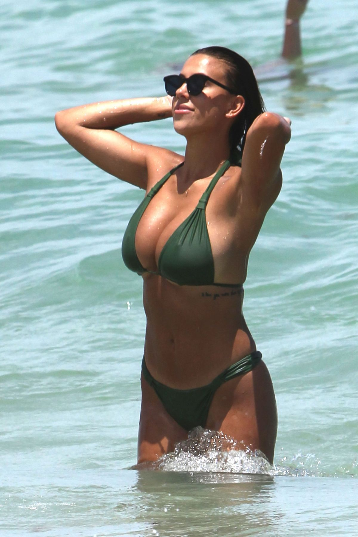 DEVIN BRUGMAN and NATASHA OAKLEY in Biknis on the Beach in Miami 07/19/2017