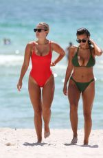 DEVIN BRUGMAN and NATASHA OAKLEY in Biknis on the Beach in Miami 07/19/2017