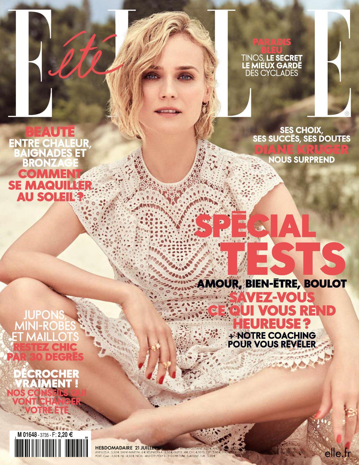 DIANE KRUGER in Elle Magazine, France July 2017