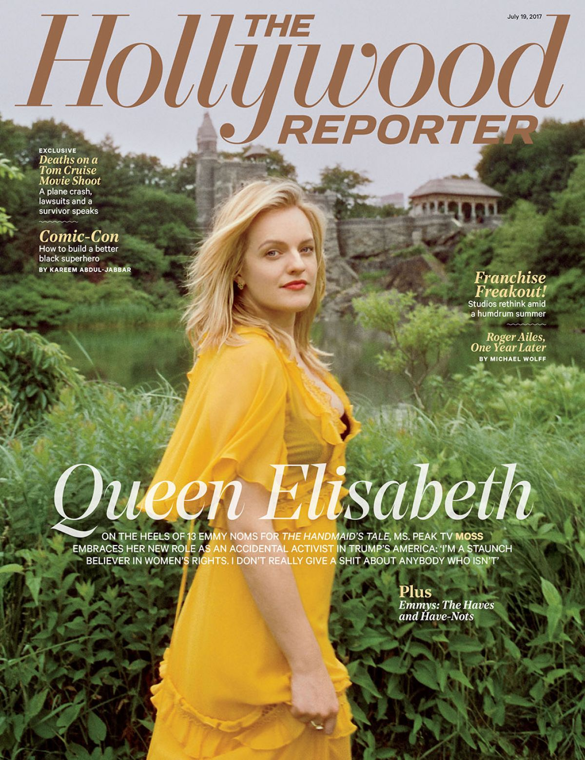ELISABETH MOSS for The Hollywood Reporter, July 2017
