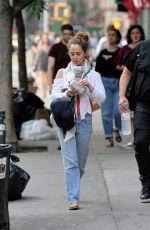 ELIUZA DUSHKU Out and About in New York 07/18/2017