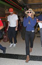 ELIZABETH OLSEN at Los Angeles International Airport 07/10/2017