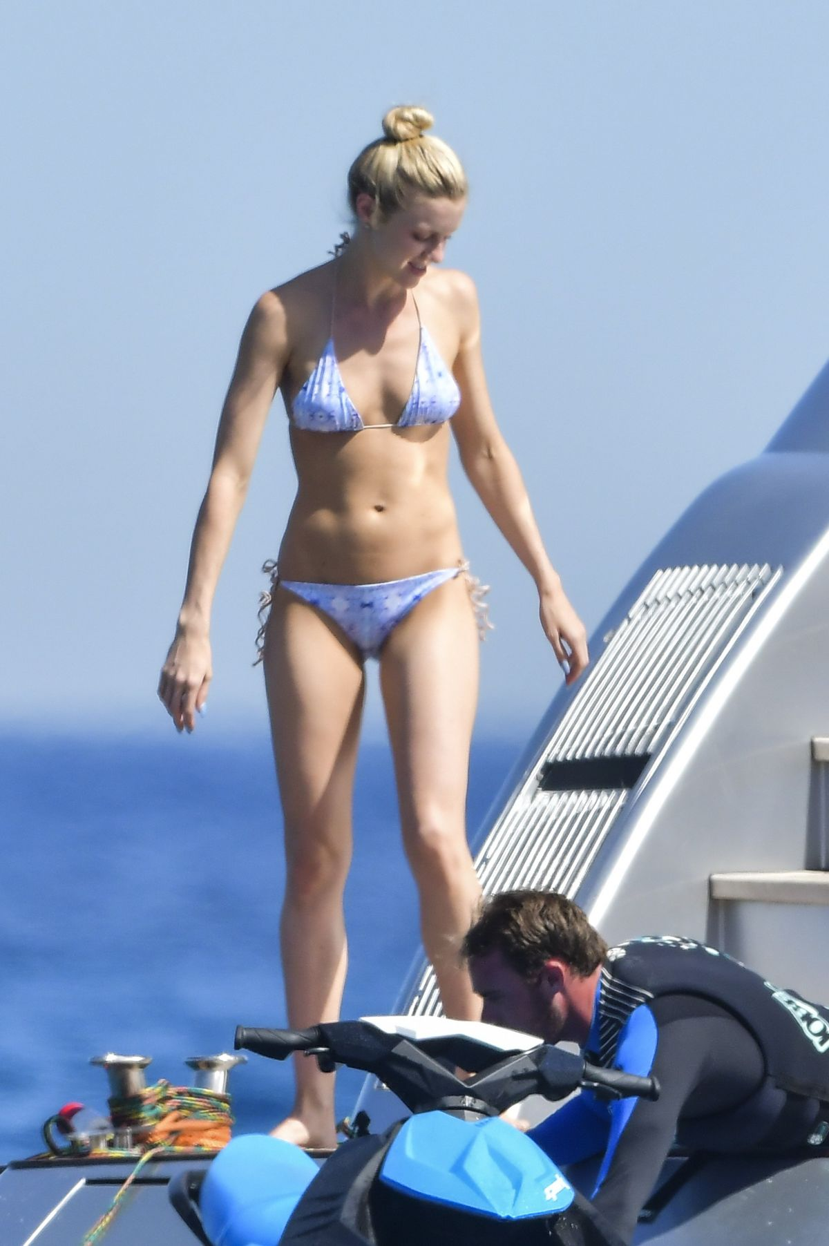 ELLE EVANS in Bikini at a Yacht in St. Tropez 07/06/2017