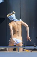 ELLE EVANS in Bikini at a Yacht in St. Tropez 07/06/2017