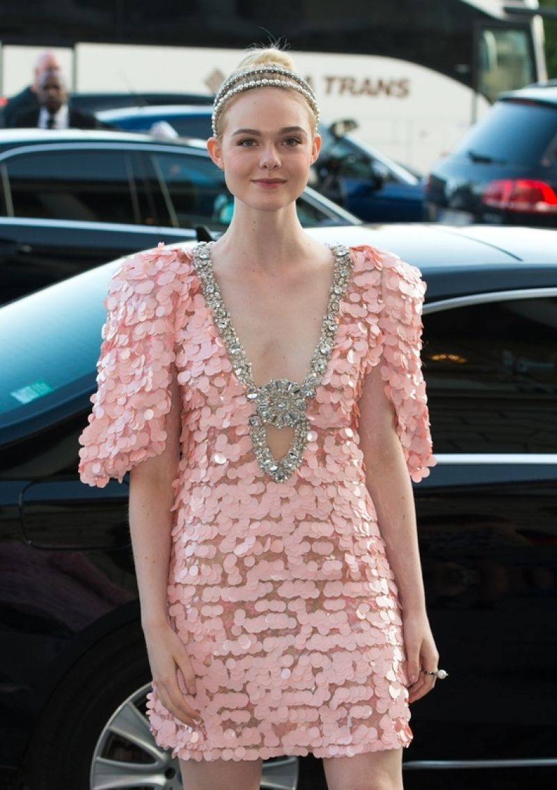 ELLE FANNING at Miu Miu Cruise Collection Show in Paris 07/02/2017