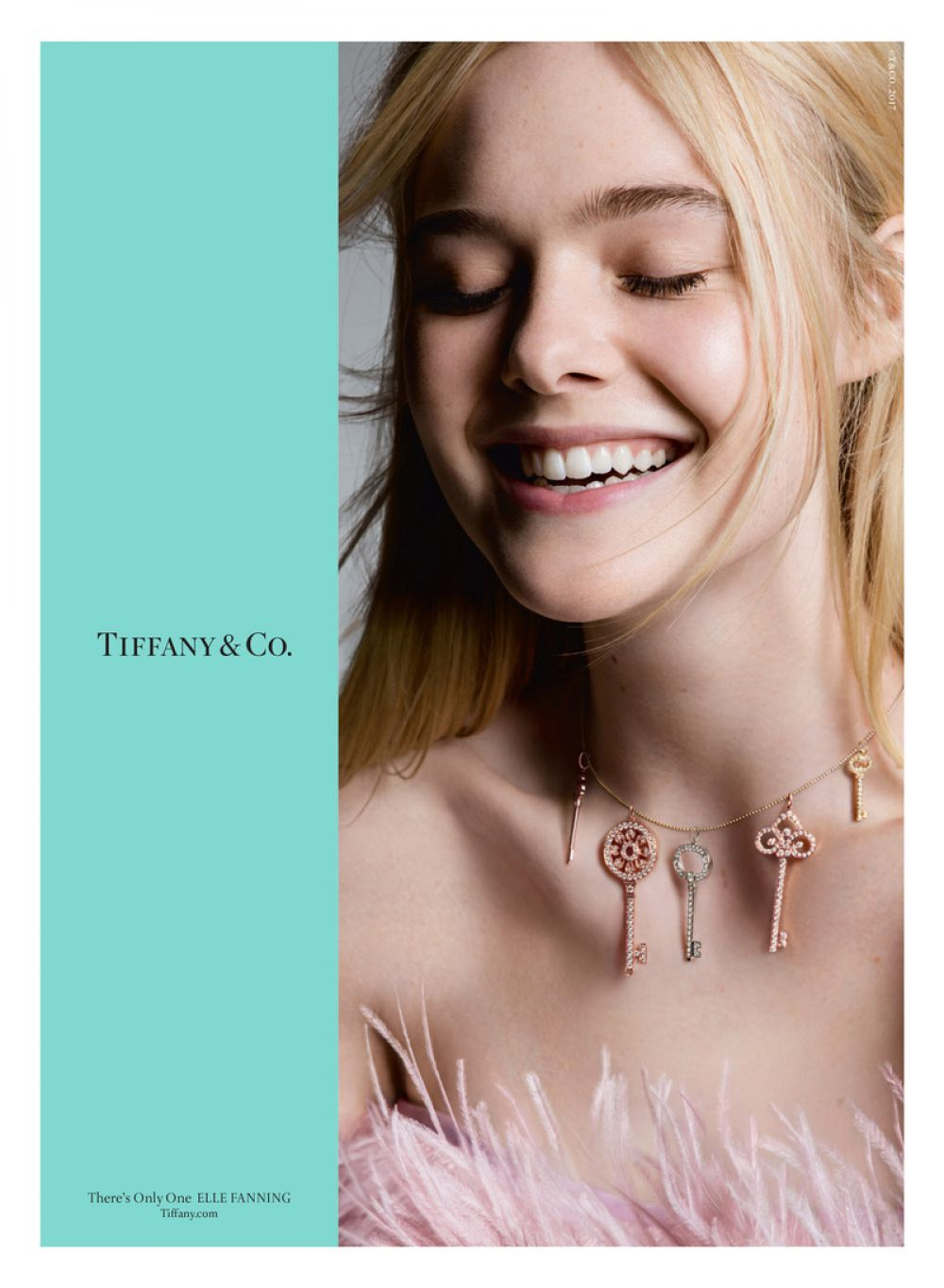 ELLE FANNING for Tiffany & Co Fall Campaign July 2017