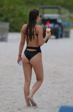 ELSIE HEWITT in Swimsuit at a Beach in Miami 07/25/2017