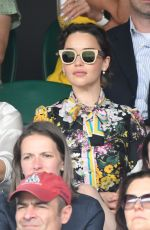 EMILIA CLARKE at Men's Singles Final at Wimbledon Tennis Championships in London 07/16/2017