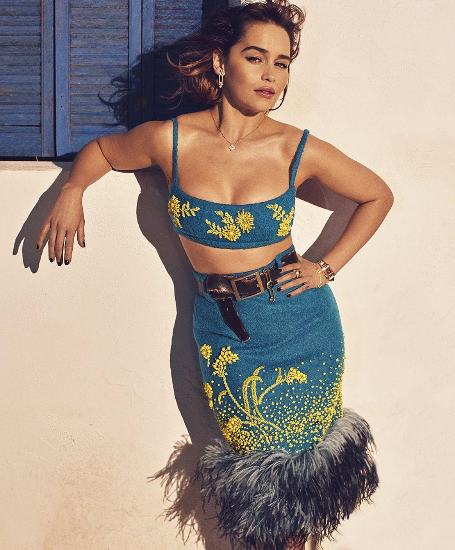 EMILIA CLARKE for Elle Magazine, August 2017