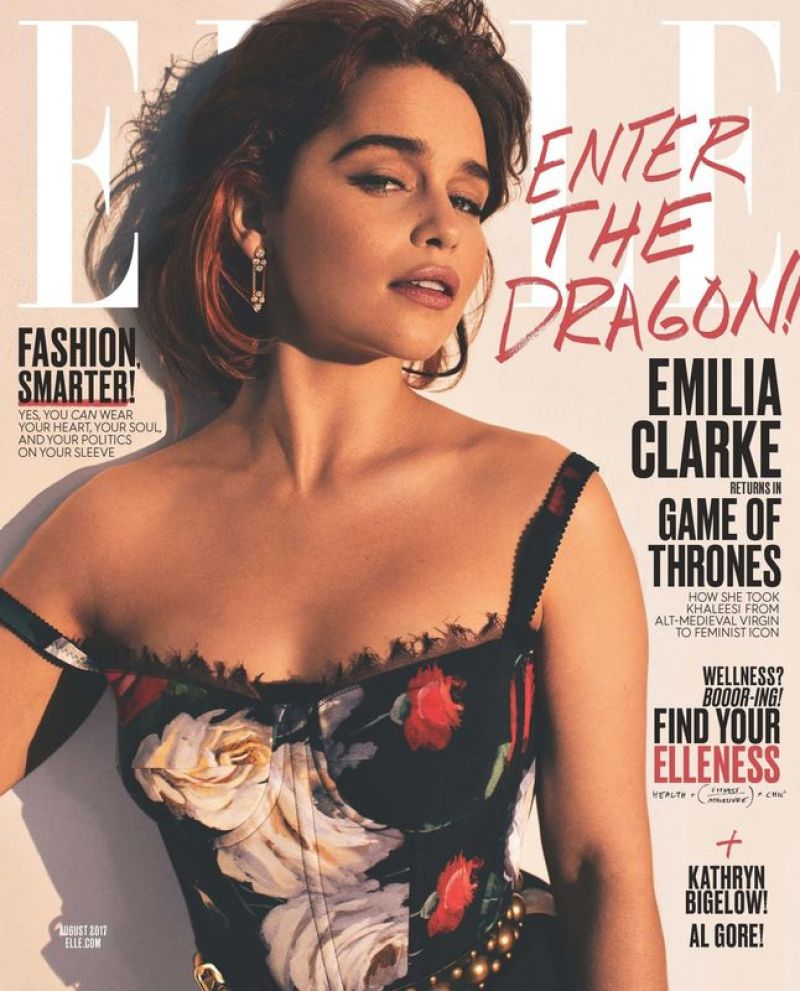 EMILIA CLARKE for Elle Magazine, August 2917