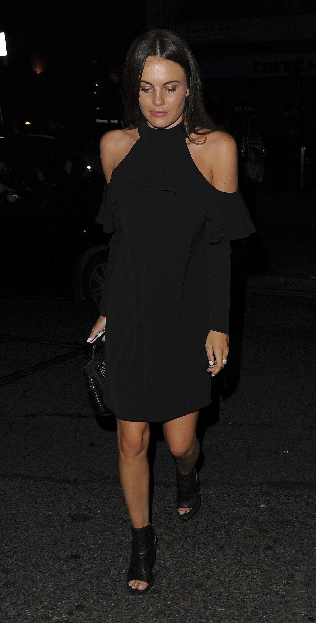 EMILY BLACKWELL Arrives at Mahiki Nightclub in London 07/08/2017